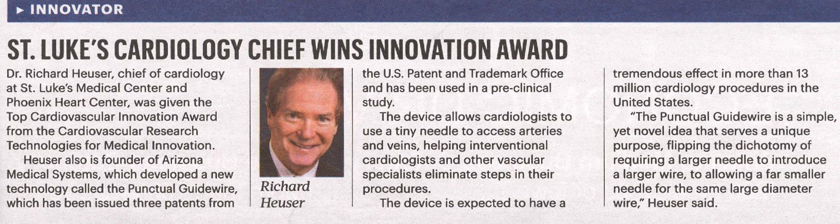 heuser-cardiology-innovation-award-phoenix-heart-center